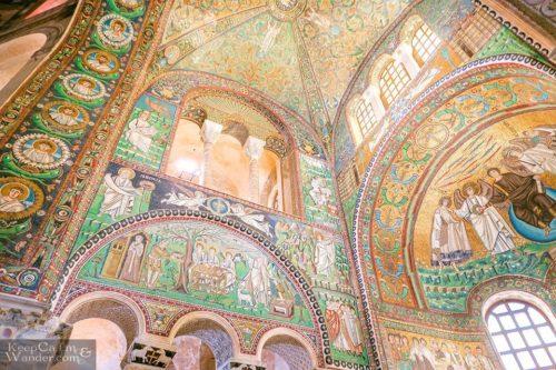 Interior view of Basilica di San Vitale Ravenna, Italy