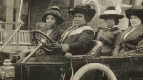 Madam C J Walker and Associates in Model T Proving The Process Is The Product