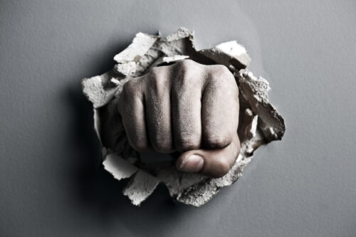 Fist through wall
